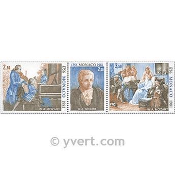 n° 1272A -  Selo Mónaco Correios