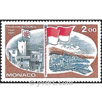 n° 1277 -  Selo Mónaco Correios