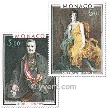 n° 1286/1287 -  Selo Mónaco Correios