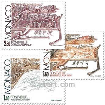 n° 1324/1326 -  Selo Mónaco Correios