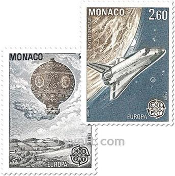 n.o 1365/1366 -  Sello Mónaco Correos
