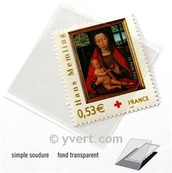 Pochettes simple soudure - Lxh:36x36mm (Fond transparent)