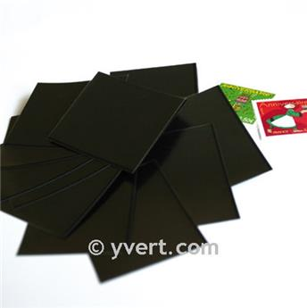 Pochettes simple soudure - Lxh:31x42mm (Fond noir)
