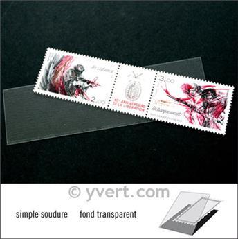 Pochettes simple soudure - Lxh:102x26mm (Fond transparent)
