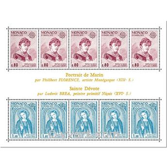 n° 10 -  Selo Mónaco Blocos e folhinhas