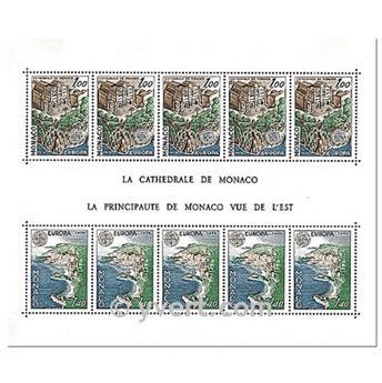 n° 14 -  Selo Mónaco Blocos e folhinhas