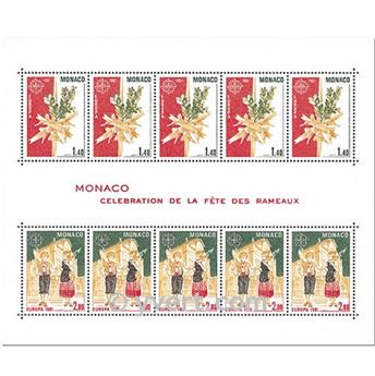 n° 19 -  Selo Mónaco Blocos e folhinhas