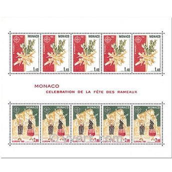 n.o 19 -  Sello Mónaco Bloque y hojitas