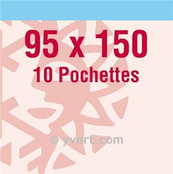 Pochettes double soudure - Lxh:95x150mm (Fond transparent)