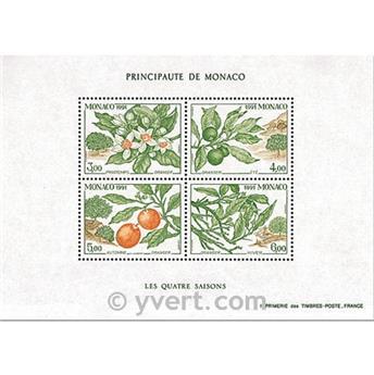 n.o 54 -  Sello Mónaco Bloque y hojitas