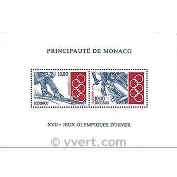 n.o 63 -  Sello Mónaco Bloque y hojitas