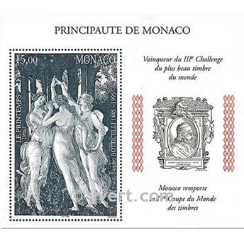n.o 77 -  Sello Mónaco Bloque y hojitas