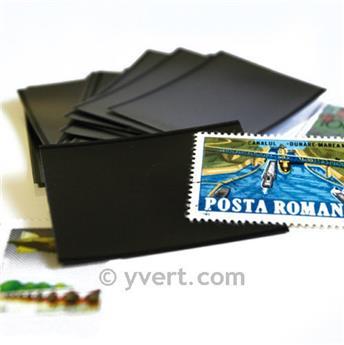 Pochettes double soudure - Lxh:108x183mm (Fond noir)