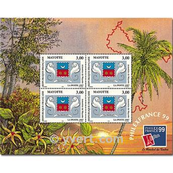 n.o 1 -  Sello Mayotte Bloques y hojitas