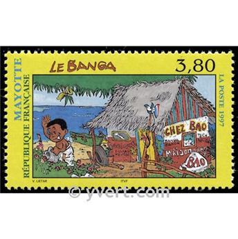 n° 45 -  Timbre Mayotte Poste