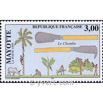 n° 61 -  Timbre Mayotte Poste