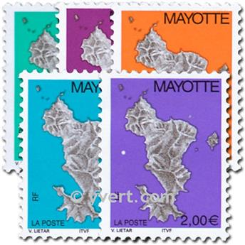 n.o 158 / 162 -  Sello Mayotte Correos