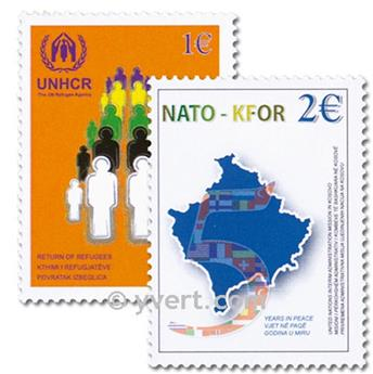 n.o 18 / 19 -  Sello Kosovo - ONU Correos
