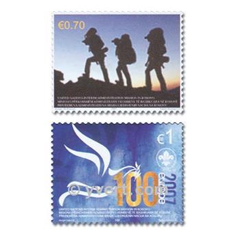 n° 68/69 -  Timbre Kosovo - ONU Poste