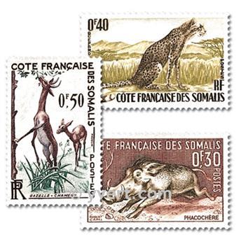n° 287/289 -  Timbre Cote des Somalis Poste