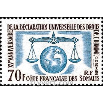 n° 318 -  Timbre Cote des Somalis Poste