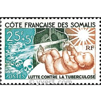 n.o 324 -  Sello Somalia francesa Correos