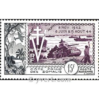 n° 24 -  Selo Somalilândia Francesa Correio aéreo
