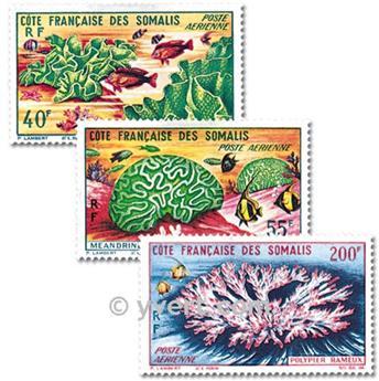 n° 34/36 -  Selo Somalilândia Francesa Correio aéreo