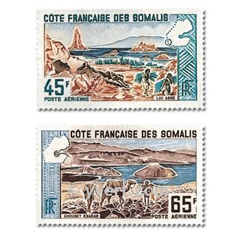 n° 43/44 -  Selo Somalilândia Francesa Correio aéreo