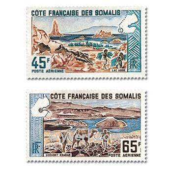 n.o 43 / 44 -  Sello Somalia francesa Correo aéreo