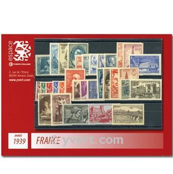 n° 419/450  - Selo França Ano completo  (1939)