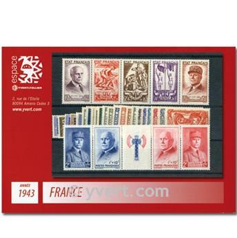 n° 568/598  - Timbre France Année complète  (1943)