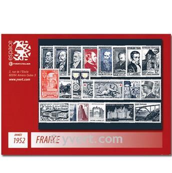 n° 919/939  - Selo França Ano completo  (1952)