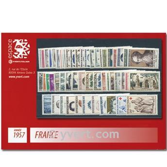 n° 1091/1141  - Sello Francia Año completo  (1957)