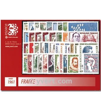 n° 1281/1324  - Selo França Ano completo  (1961)