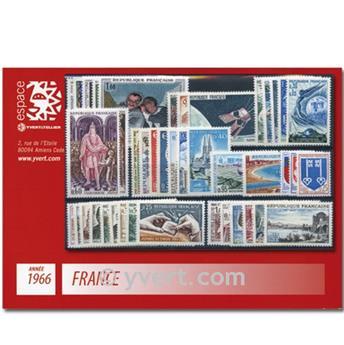 n° 1468/1510  - Timbre France Année complète  (1966)