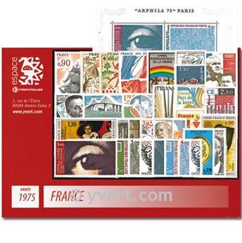 n° 1830/1862  - Timbre France Année complète  (1975)