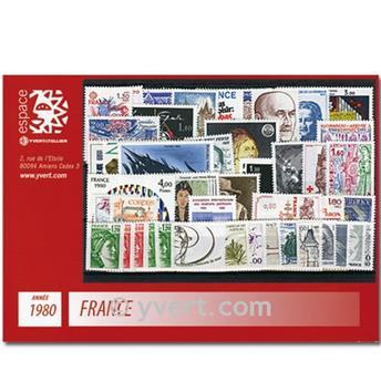 n° 2073/2117  - Timbre France Année complète  (1980)