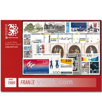 n° 2560/2614  - Selo França Ano completo  (1989)
