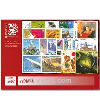 n° 3443/3537  - Timbre France Année complète  (2002)