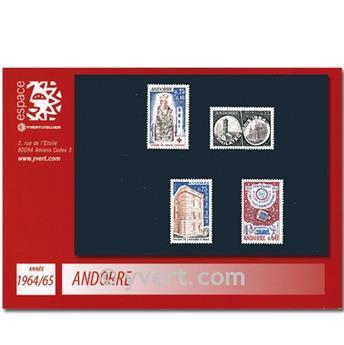 n° 171/174 -  Timbre Andorre Année complète (1964/65)
