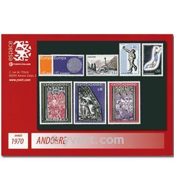 n° 201/208 -  Selo Andorra Ano completo (1970)