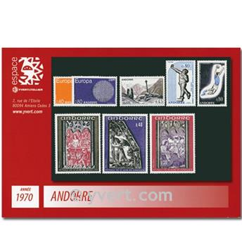 nr. 201/208 -  Stamp Andorra Year set (1970)