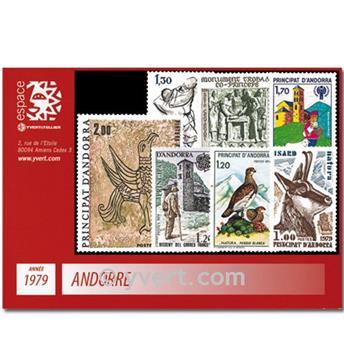 n° 274/281 -  Selo Andorra Ano completo (1979)