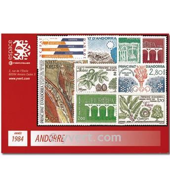 n° 327/336 -  Timbre Andorre Année complète (1984)