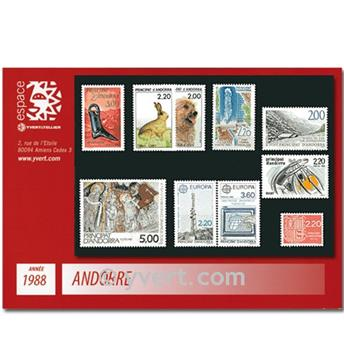 n° 366/375 -  Selo Andorra Ano completo (1988)