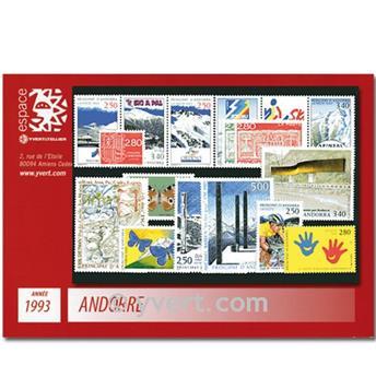 n° 426A/440 -  Selo Andorra Ano completo (1993)
