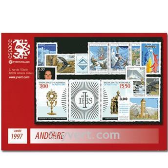 n° 484/496 -  Selo Andorra Ano completo (1997)