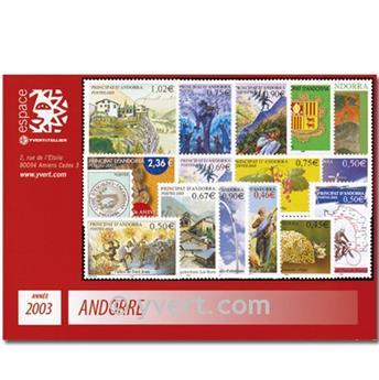 n° 555/574 -  Selo Andorra Ano completo (2002)