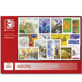 n.o 555/574 -  Sello Andorra Año completo (2002)
